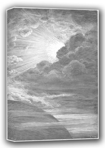 Dore, Gustave: The Creation of Light (Illustration from Dore's 'The Holy Bible'). Fine Art Canvas. Sizes: A4/A3/A2/A1 (001831)